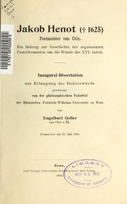 Jakob Henot 1625 Postmeister von Cöln
