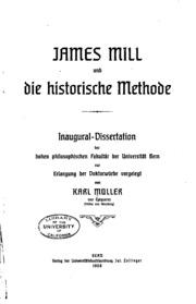 James Mill und die historische methode ..
