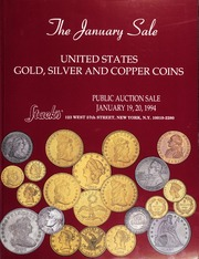 The January Sale: United States Gold, Silver and Copper Coins