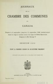 Journaux de la chambre des communes du canada canada for Chambre des communes