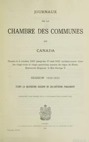 Journaux de la chambre des communes du canada 1932 for Chambre de commune