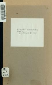 Jean Francois Le Sueur, eine Biographie Teildruck ..