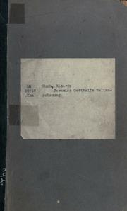 Jeremias Gotthelfs Weltanschauung, Vortrag