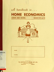 A Handbook In Home Economics For Junior High Schools Free Download Borrow And Streaming Internet Archive