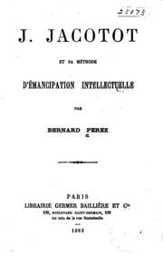 J. Jacotot et sa méthode d-émancipation intellectuelle