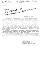 The Journal of Necromantic Numismatics