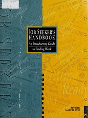 Job seekers handbook : an introductory guide to finding work