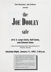 The Joe Dooley Sale of U.S. Large Cents, Half Cents, and Colonial Coins