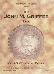 John M. Griffee Sale of Colonial Coins
