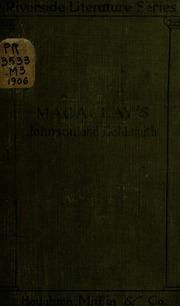 johnson and goldsmith essays by thomas babington macaulay  johnson and goldsmith essays