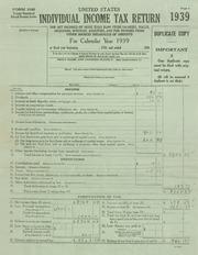 Johnson Taxes 1939