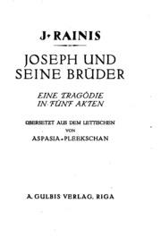 Joseph und seine Brüder: Eine Tragödie in fünf Akten