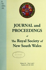 journal and proceedings of the royal society of new south wales royal society of new south. Black Bedroom Furniture Sets. Home Design Ideas