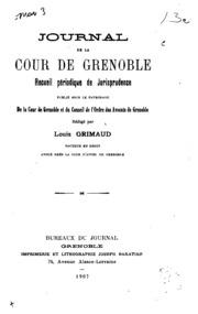 Journal de la cour de Grenoble: recueil périodique de jurisprudence