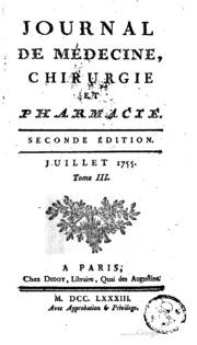 Journal de m decine de chirurgie et de pharmacie ou annales de volume 3 - Journal de montpellier ...