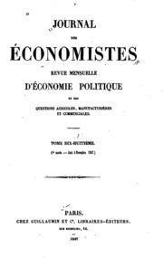 Vol 18: Journal des économistes