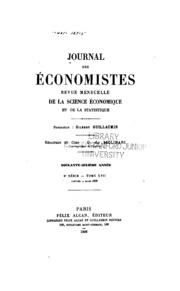 Journal des ećonomistes: revue de la science économique et de la statistique