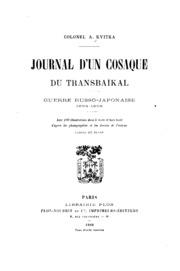 Journal d-un cosaque du Transbaĭkal: guerre russo-japonaise 1904-1905