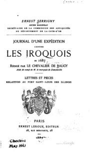 Journal d-une expédition contre les Iroquois en 1687