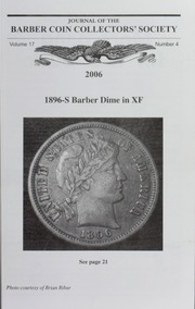 Vol 17n4: Journal of the Barber Coin Collectors Society