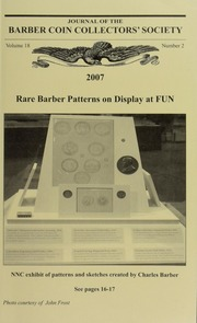 Journal of the Barber Coin Collectors' Society, vol. 18, no. 2