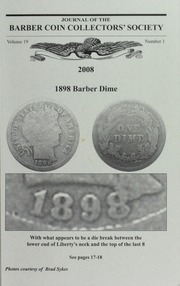 Journal of the Barber Coin Collectors' Society, vol. 19, no. 1