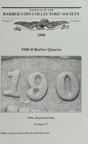 Journal of the Barber Coin Collectors' Society, vol. 19, no. 3