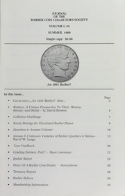 Journal of the Barber Coin Collectors' Society, vol. 1, no. 2