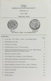 Journal of the Barber Coin Collectors' Society, vol. 1, no. 3