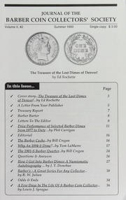 Journal of the Barber Coin Collectors' Society, vol. 2, no. 2
