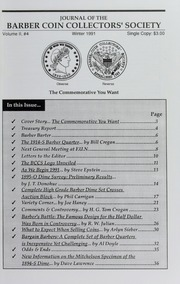 Journal of the Barber Coin Collectors' Society, vol. 2, no. 4