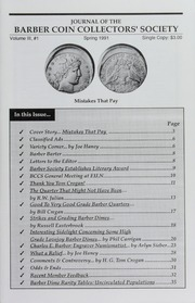 Journal of the Barber Coin Collectors' Society, vol. 3, no. 1