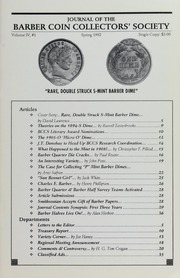 Journal of the Barber Coin Collectors' Society, vol. 4, no. 1