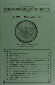 Journal of the Barber Coin Collectors' Society, vol. 8, no. 1