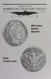 Vol 9n01: Journal of the Barber Coin Collectors Society