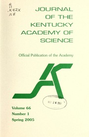 Vol v.66:no.1 2005:Spring: Journal of the Kentucky Academy of Science