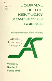 Vol v.67:no.1 2006:Spring: Journal of the Kentucky Academy of Science