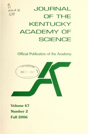 Vol v.67:no.2 2006:Fall: Journal of the Kentucky Academy of Science