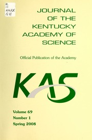 Vol v.69:no.1 2008:Spring: Journal of the Kentucky Academy of Science