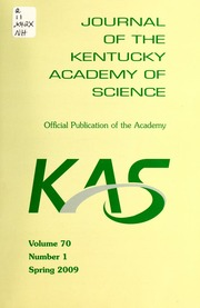 Vol v.70:no.1 2009:Spring: Journal of the Kentucky Academy of Science