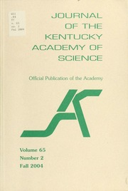 Vol v.65 no.2 2004: Journal of the Kentucky Academy of Science