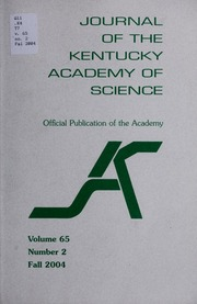 Vol v.65:no.2 2004: Journal of the Kentucky Academy of Science.