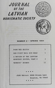 Journal of the Latvian Numismatic Society