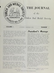 Journal of the Token and Medal Society, Vol. 2, No. 5