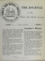 Journal of the Token and Medal Society, Vol. 3, No. 2