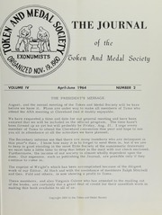 Journal of the Token and Medal Society, Vol. 4, No. 2