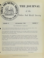 Journal of the Token and Medal Society, Vol. 4, No. 3