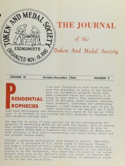 Journal of the Token and Medal Society, Vol. 4, No. 4