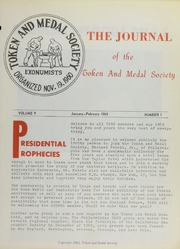 Journal of the Token and Medal Society, Vol. 5, No. 1