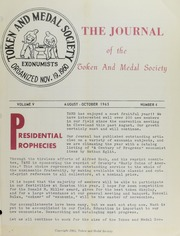 Journal of the Token and Medal Society, Vol. 5, No. 4